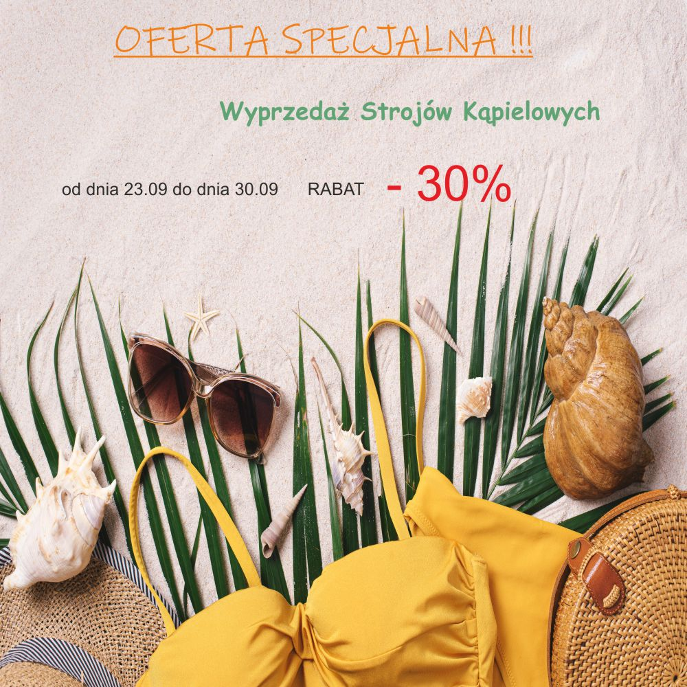 Wyprzedaż - Biustonosze 60 zł, majtki 30 zł. Oferta dostępna w sklepach stacjonarnych.